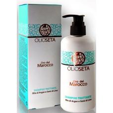 Barex Olioseta - Питательный шампунь без сульфатов с маслом арганы и маслом льна, 250 мл