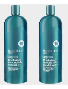 Label.m Organic Moisturizing Lemongrass Эконом набор Шампунь и кондиционер органик Лемонграсс 1000 мл*2