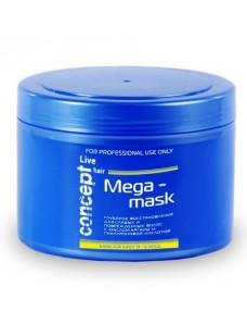 Concept Live Hair Mega Masque Маска мега-уход для слабых и повреждённых волос, 500 мл.