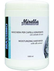 Mirella Professional Увлажняющая маска для волос с экстрактом шелка 1000 мл