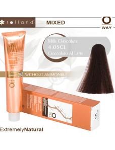Rolland Hcolor Безаммиачная краска для волос 4,05 Молочный шоколад 100 мл