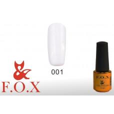 F.O.X Pigment тон 001 Гель-лак для ногтей, 6 мл