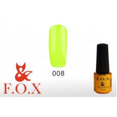 F.O.X Pigment тон 008 Гель-лак для ногтей, 6 мл