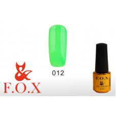 F.O.X Pigment тон 012 Гель-лак для ногтей, 6 мл