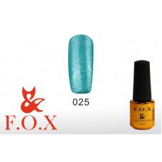 F.O.X Pigment тон 025 Гель-лак для ногтей, 6 мл