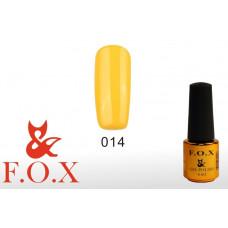 F.O.X Pigment тон 014 Гель-лак для ногтей, 6 мл