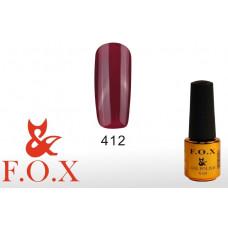 F.O.X Pigment тон 412 Гель-лак для ногтей, 6 мл