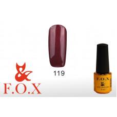 F.O.X Pigment тон 119 Гель-лак для ногтей, 6 мл