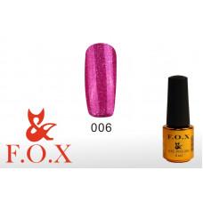 F.O.X Pigment тон 006 Гель-лак для ногтей, 6 мл