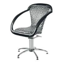 Ceriotti Парикмахерское кресло SAMA (черно-белое)