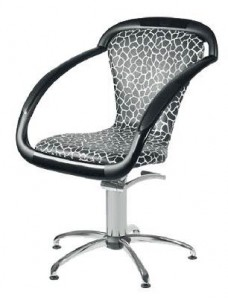 Ceriotti Парикмахерское кресло SAMA черно-белое