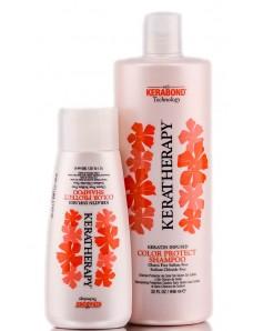 Keratherapy Шампунь для окрашенных волос с кератином БЕЗ сульфатов, 300 мл