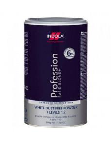 Indola Profession Rapid Blond+ White Dust-Free Powder Беспылевой осветляющий порошок белый 500 мл.