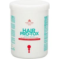 Kallos Cosmetics Pro-Tox Hair Mask Маска БОТОКС для волос с кератином, коллагеном и гиалуроновой кислотой 1000 мл