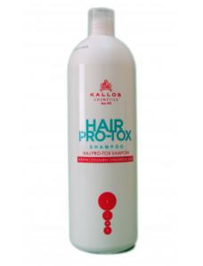 Kallos PRO-TOX Шампунь для волос  с кератином, коллагеном и гиалуроновой кислотой 1000 мл