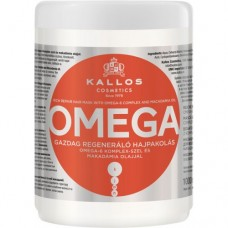 Kallos Cosmetics Hair Omega Mask Маска для волос с комплексом Омега-6 и маслом макадамии, 1000 мл