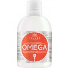 Kallos Omega Hair Shampoo Восстанавливающий шампунь с комплексом Омега-6 и маслом макадамии 1000 мл